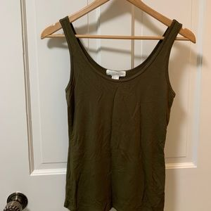 NWT Olive green tank top